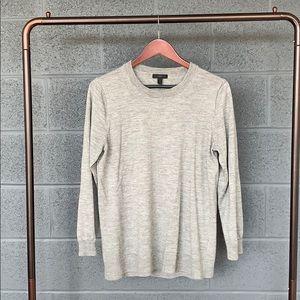 J. Crew Gray Merino Tippi Sweater